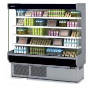Vitrine réfrigérée murale multiservices - Dimension (L x P x H) mm: Jusqu'à 2900 x 725 x 2020 - Côtés vitrés