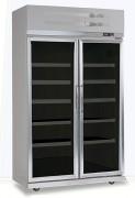 Vitrine réfrigérée positive à portes - Froid ventilé 0°C/6°C - Portes vitrées