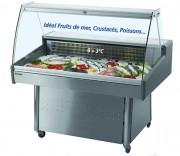 Vitrine réfrigérée pour poissons - 0 + 3°C - Longueur (mm) : 1050 à 1240
