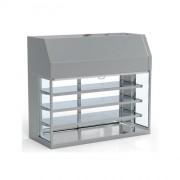 Vitrine réfrigérée pour restaurant self service - Fabrication espagnole - Certifié ISO 9001 – 14001- Modèle : fermé - ouvert