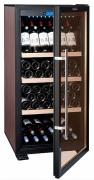 Vitrine réfrigérée pour vin - Capacité maximale (avec 2 clayettes) : 140 bouteilles