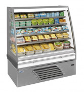 Vitrine réfrigérée produits laitiers - Froid positif : -1 /   7 °C - Dégivrage automatique