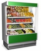 Vitrine réfrigérée restauration rapide - Vitrine réfrigérée centrale à système de réfrigération à air soufflé
