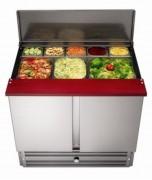 Vitrine saladette réfrigérateur et présentoir - Dimension (LxPxH) : 900 x690 x 875 mm