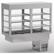 Vitrine ventilée avec cuve réfrigérée - Dimensions (LxPxH) mm : Jusqu'à 2175x655x1425  –  A encastrer