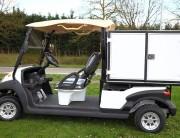Voiturette électrique pour transport de matériel et bagages - Dimensions : 311 x 118 x 189 cm
