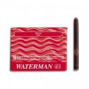 WATERMAN Cartouche pour stylo à plume encre bleu/noir WATERMAN STANDARD GRANDE CONTENANCE en étui de 8 - Waterman