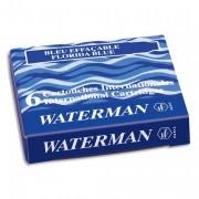WATERMAN Cartouche pour stylo à plume encre bleue WATERMAN INTERNATIONALE COURTE en étui de 6 - Waterman