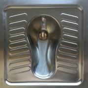 WC à la turque en inox - Sanitaires à l'oriental à encastrer
