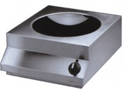 Wok à induction électrique 400 Volts - Dimensions (L x P x H) mm : 380 x 440 x 198