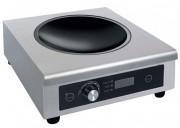 Wok à induction professionnel 3100 W - 10 niveaux de température 60-240 °C