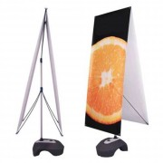X banner stand - Taille : 60 x 180 cm - Personnalisable