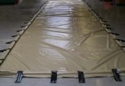Zone de décontamination 18000 litres pour chantier - Dimensions : 15 x 4 x 0.30 m de hauteur