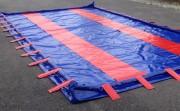 Zone de décontamination mobile 6000 L pour chantier - Dimensions : 6 m x 4 m x 0.25 m de hauteur