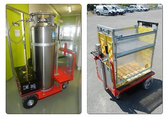 Chariot plateau électrique 700 Kg - Devis sur Techni-Contact.com - 2