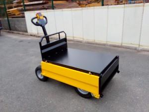 Chariot électrique avec plateau à ridelles 500kg - Devis sur Techni-Contact.com - 2