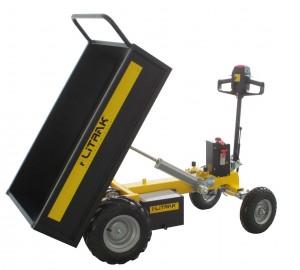 Chariot électrique avec plateau à ridelles 500kg - Devis sur Techni-Contact.com - 4