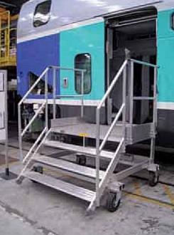Escabeau d'accès wagon - Devis sur Techni-Contact.com - 1
