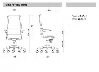 Fauteuil direction acier et cuir haut de gamme - Devis sur Techni-Contact.com - 2