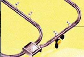 Convoyeur monorail avec courbes et aiguillages - Devis sur Techni-Contact.com - 1