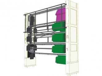 Stockeur rotatif vertical pour vêtements - Devis sur Techni-Contact.com - 4