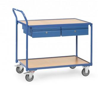 Chariot 2 plateaux avec tiroirs - Devis sur Techni-Contact.com - 1