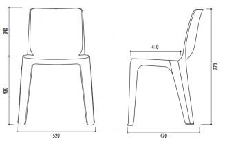 Chaise empilable plastique - Devis sur Techni-Contact.com - 2