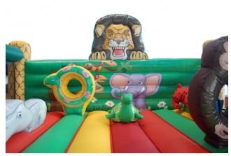 Jeu gonflable roi lion avec obstacles - Devis sur Techni-Contact.com - 3