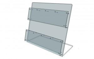 Présentoir comptoir plexiglas 50 x 50 cm - Devis sur Techni-Contact.com - 2