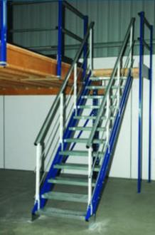 Escalier droit industriel métallique - Devis sur Techni-Contact.com - 1