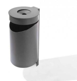 Corbeille avec cendrier en acier - Devis sur Techni-Contact.com - 1