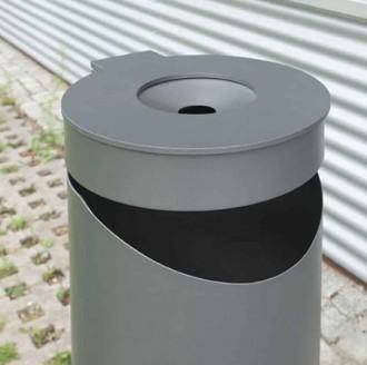 Corbeille avec cendrier en acier - Devis sur Techni-Contact.com - 3