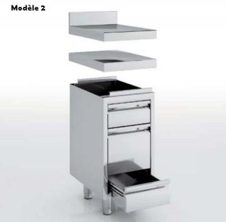 Meuble neutre avec tiroirs en inox - Devis sur Techni-Contact.com - 2