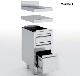 Meuble neutre avec tiroirs en inox - Devis sur Techni-Contact.com - 3