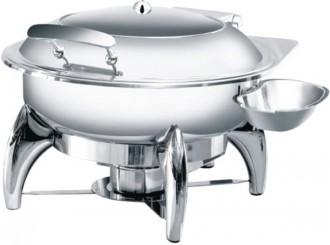Chafing dish rond à hublot - Devis sur Techni-Contact.com - 1