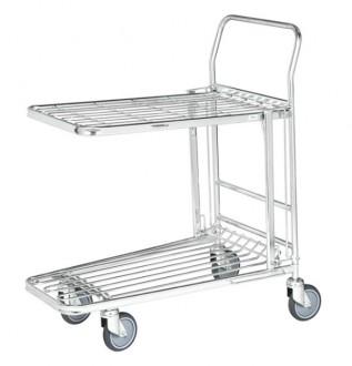 Chariot à panier rabattable - Devis sur Techni-Contact.com - 1