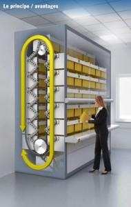 Stockeur classeur vertical rotatif - Devis sur Techni-Contact.com - 2