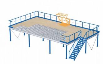 Plateforme de stockage 4000 kg par m² - Devis sur Techni-Contact.com - 1