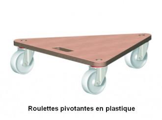 Plateau roulant triangulaire en contreplaqué - Devis sur Techni-Contact.com - 1