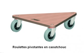 Plateau roulant triangulaire en contreplaqué - Devis sur Techni-Contact.com - 2
