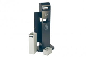 Collecteur à déchets avec cendrier - Devis sur Techni-Contact.com - 1