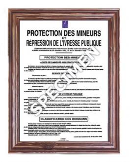 Cadre d'affichage mural loi protection des mineurs - Devis sur Techni-Contact.com - 1