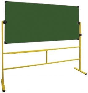 Tableau scolaire vert pivotant sur pieds - Devis sur Techni-Contact.com - 1