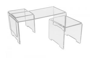 Table et poufs plexiglas - Devis sur Techni-Contact.com - 1