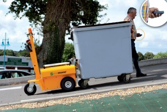 Tracteur électrique pour sortir les poubelles - Devis sur Techni-Contact.com - 2