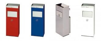Cendrier avec poubelle en acier - Devis sur Techni-Contact.com - 1