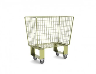 Chariot grillagé emboitable - Devis sur Techni-Contact.com - 1
