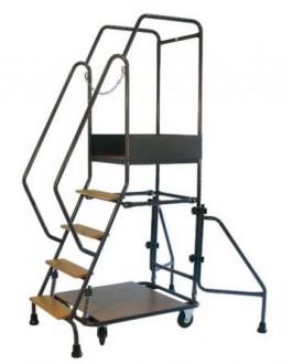 Escabeau mobile à marches en bois ou aluminium - Devis sur Techni-Contact.com - 1