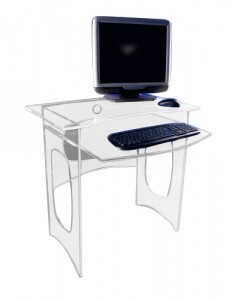 Bureau d'ordinateur en plexiglass - Devis sur Techni-Contact.com - 1