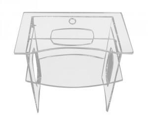 Bureau d'ordinateur en plexiglass - Devis sur Techni-Contact.com - 2
